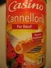 Cannelloni Pur Boeuf - Sauce italienne - Produit