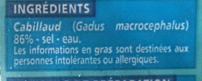 Filets de morue - Ingrédients