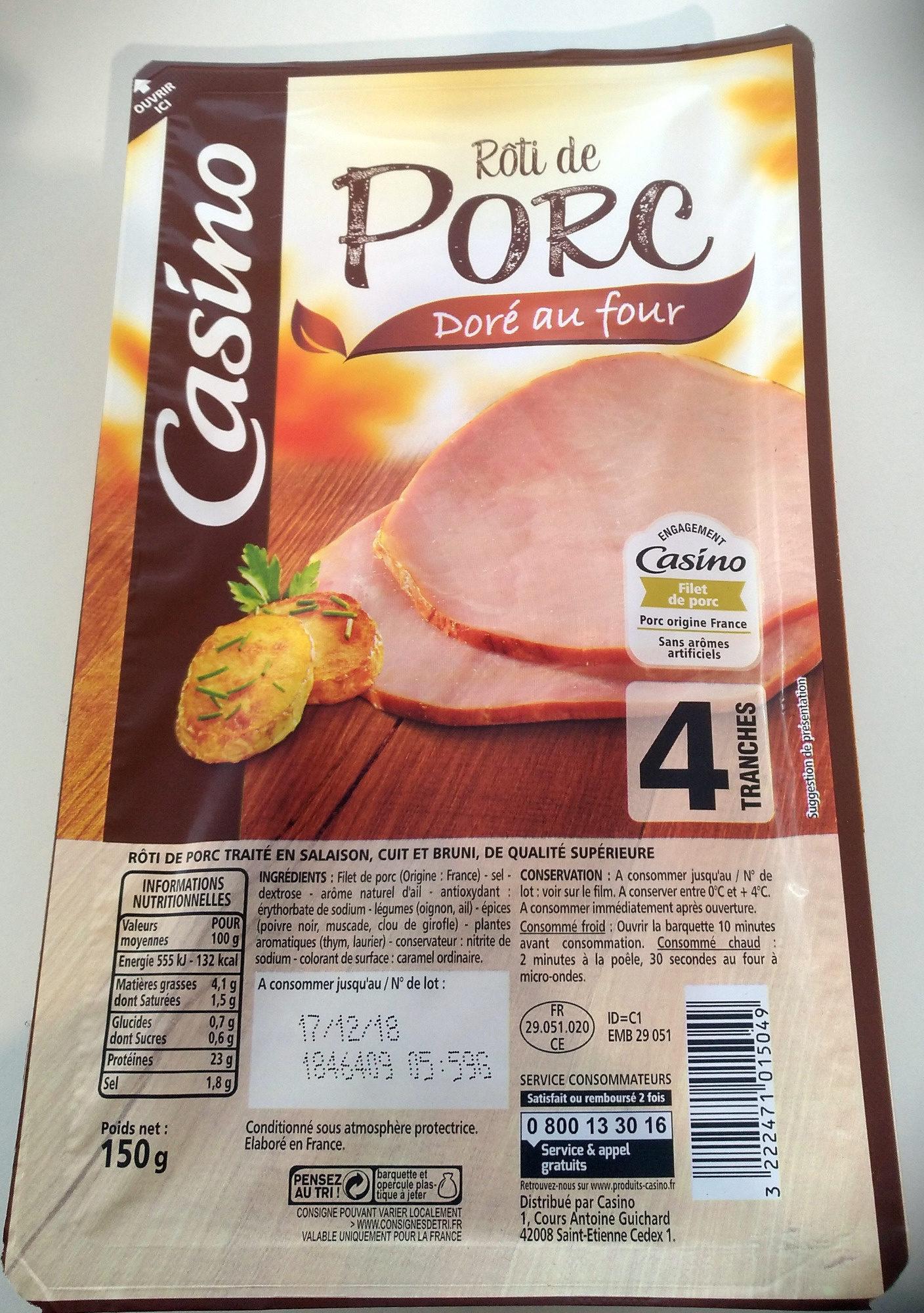 Rôti de Porc doré au four - Product