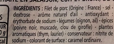Rôti de Porc doré au four - Ingredients
