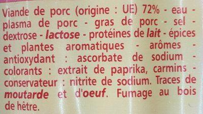 Knacks Pur Porc - Ingrédients - fr