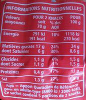 Knacks Pur Porc - Informations nutritionnelles - fr