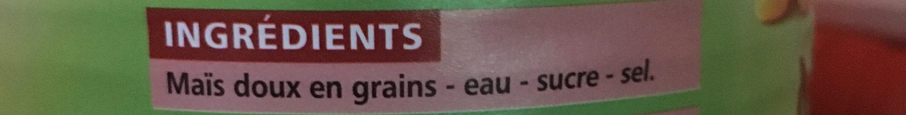 Maïs croquant - Ingredients