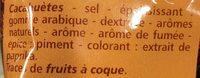Cacahuètes Grillées à sec Salées et aromatisées - Ingrediënten - fr