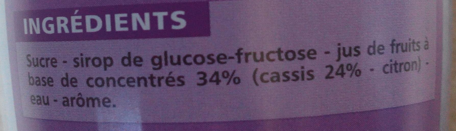 Sirop de cassis - Ingrediënten - fr