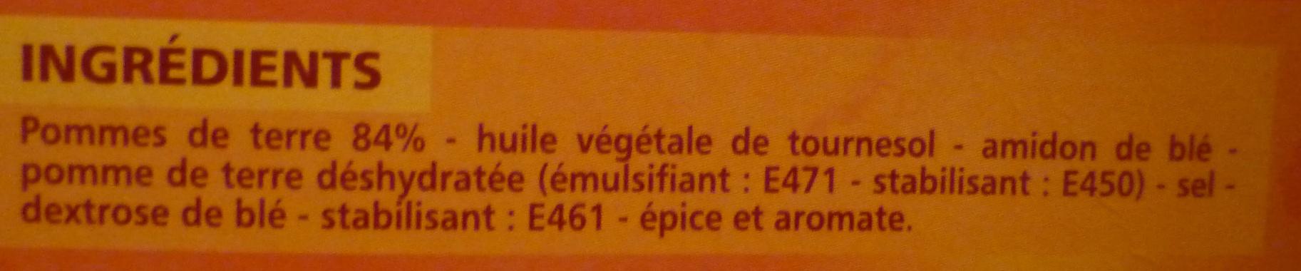 Pommes noisettes sans huile de palme - Ingrédients - fr