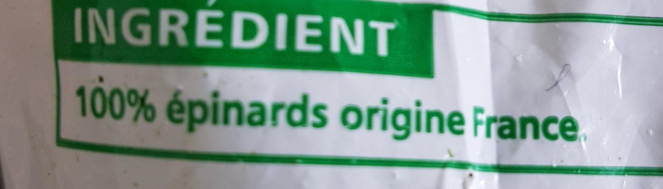 Epinard en Branches - Ingredienti - fr