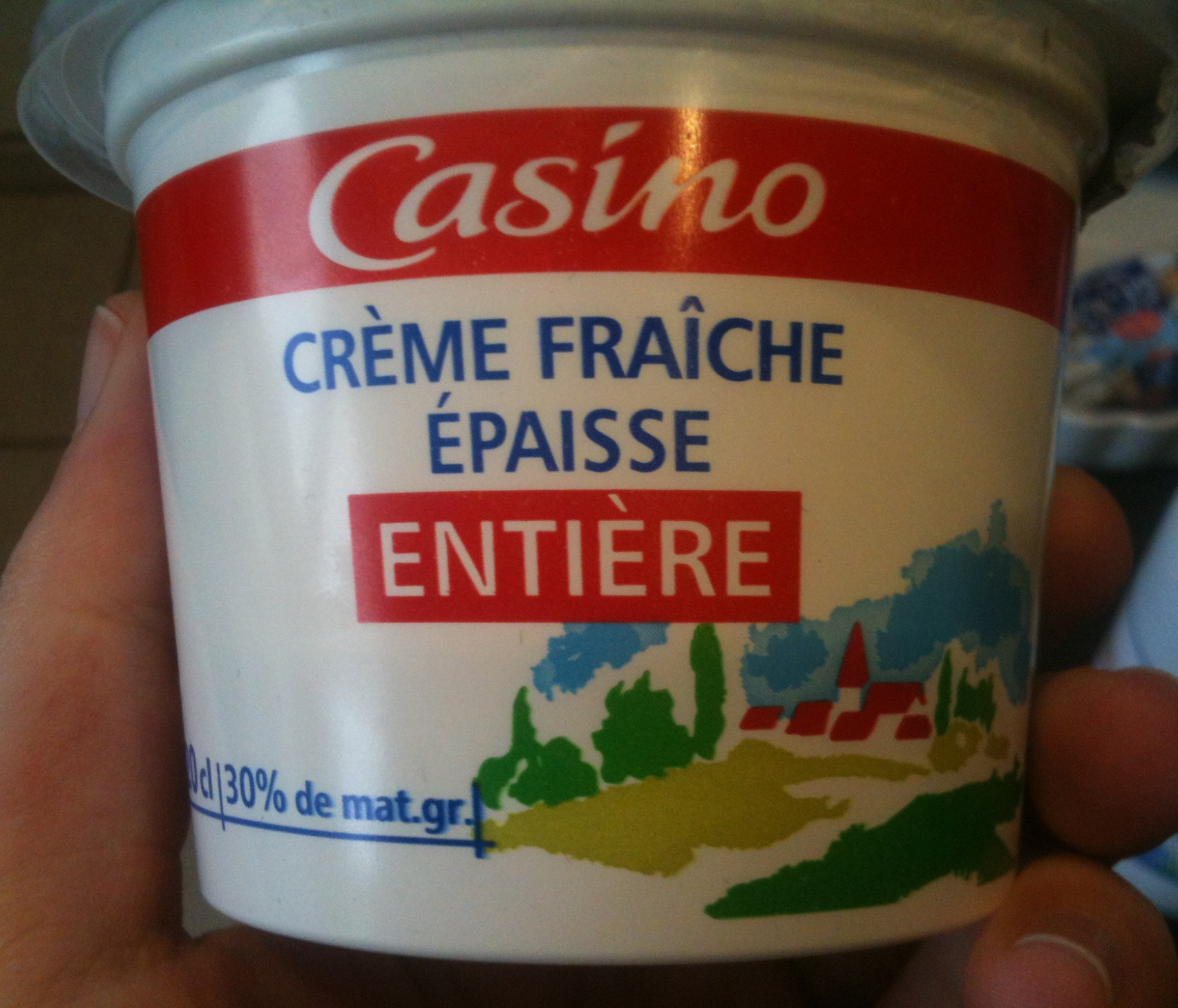 Crème fraîche épaisse entière - Product