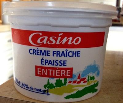 Crème Fraîche Épaisse Entière (30 % MG) - Product