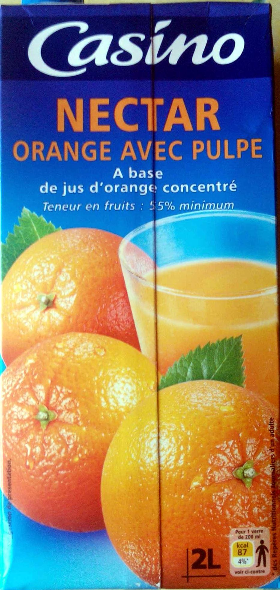 Nectar d'orange à base de jus concentré Teneur en fruits : 55 % minimum - Produit - fr