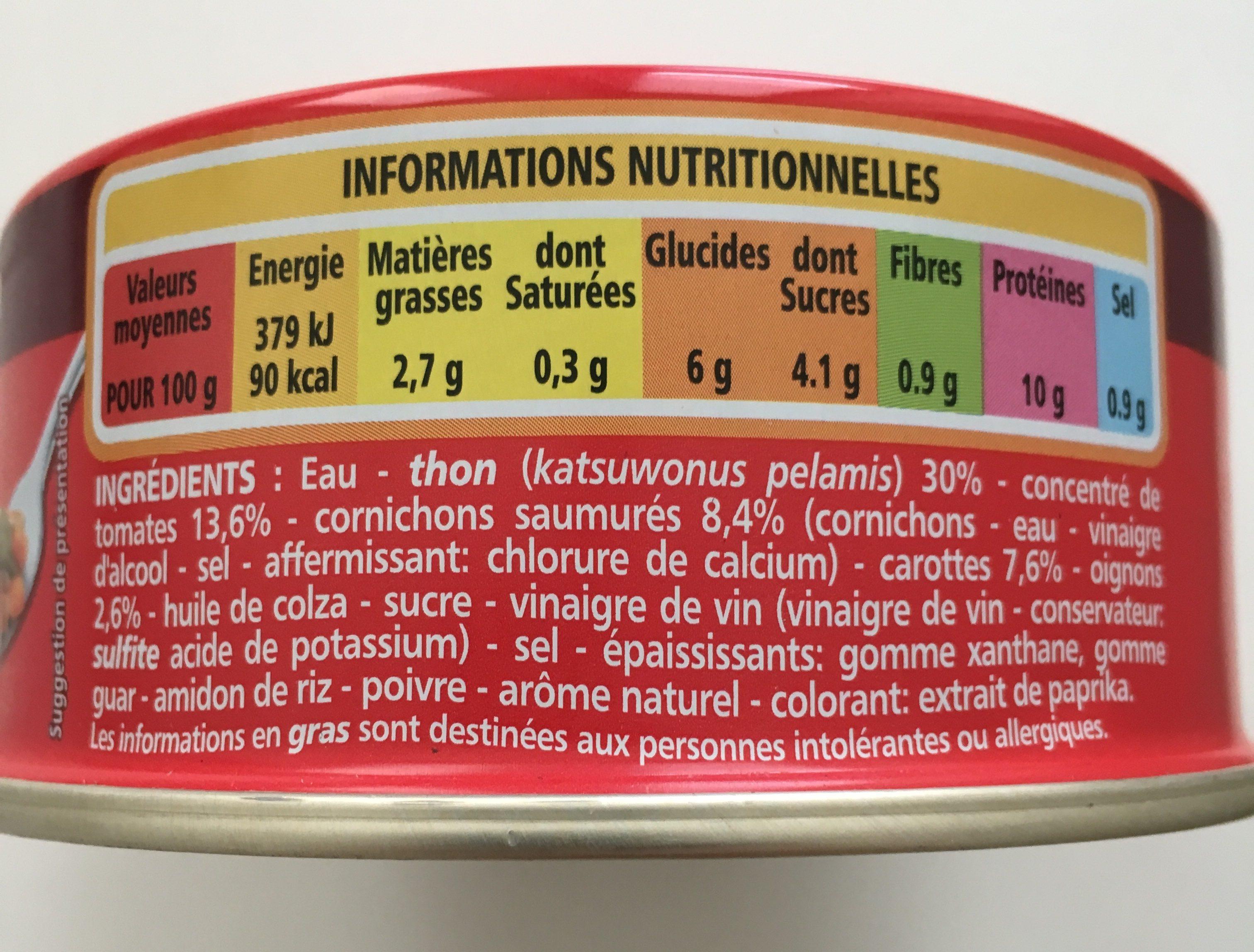 Thon à La Catalane - Ingrediënten - fr