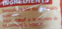 Torti - pâtes de qualité supérieure - Ingredients - fr