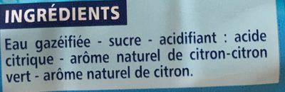 Limonade - Arôme naturel de citron - Ingrédients