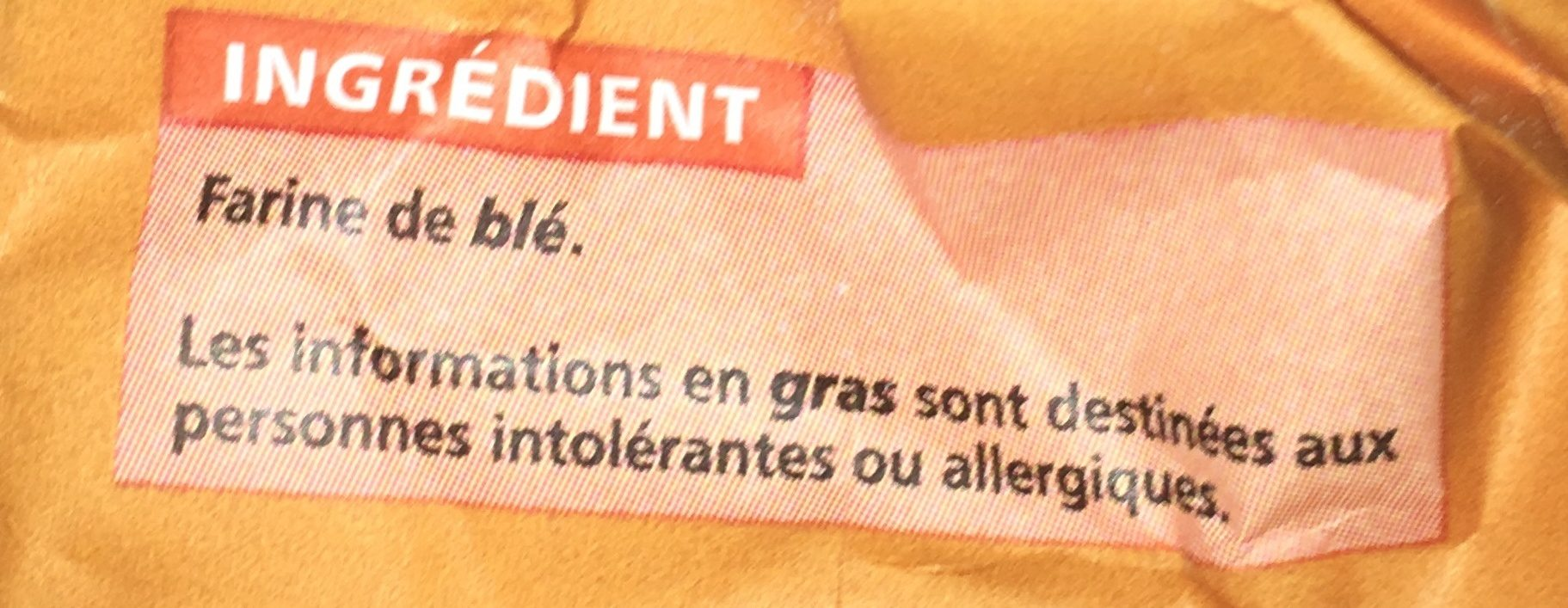 Farine de blé - Ingrédients - fr