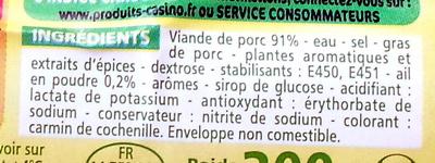 Saucisson à l'ail pur porc nature - Ingrediënten - fr