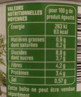 Petits pois et jeunes carottes à l'étuvée extra fins - Informations nutritionnelles - fr