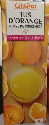Jus d'orange à base de concentré - Teneur en fruits : 100% - Produit - fr