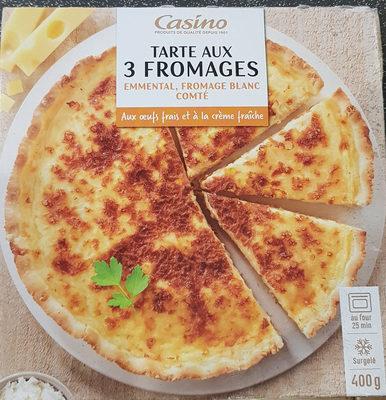 Tarte aux 3 fromages - Emmental, fromage blanc, Comté - Product
