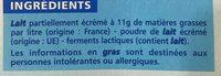 Le Nature - Ingrediënten - fr