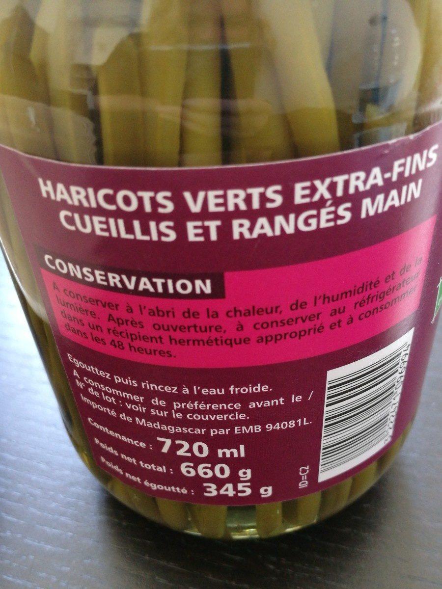Haricots verts extra-fins cueillis et rangés main - Ingrédients - fr