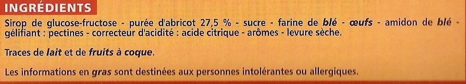 Barquettes Abricot - Ingrédients
