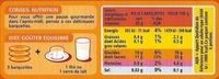 Barquettes Abricot - Informations nutritionnelles