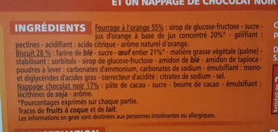 Génoise Fourrée Orange - Ingredienti - fr