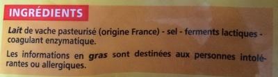 Emmental français - Ingredients