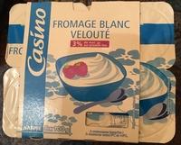 Fromage blanc velouté 3% de mat. gr. sur produit fini - Produit - fr