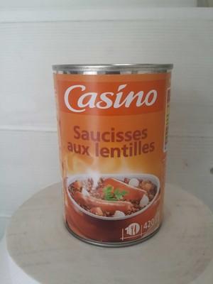 Saucisses lentilles 420g - 1