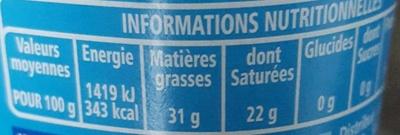 Le Crémeux - fromage au coeur tendre et onctueux - Informations nutritionnelles - fr