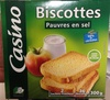 Biscottes pauvres en sel - Product