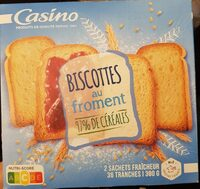 Biscottes au froment - Product - fr
