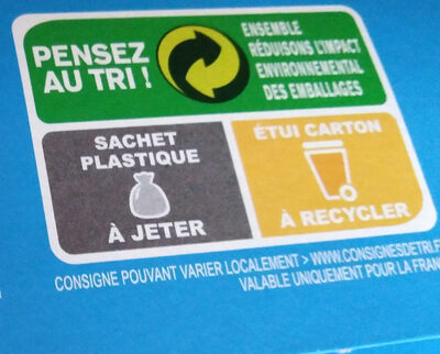 Biscottes au froment - Recycling instructions and/or packaging information - fr