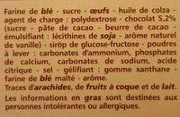 Marbré Chocolat - Ingrédients - fr