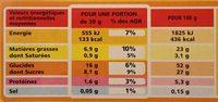 Marbré Chocolat - Informations nutritionnelles - fr