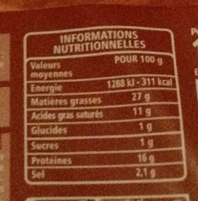 Poitrine Tranches Fines fumée 8 Tranches - Nutrition facts
