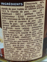 Choucroute royale au vin blanc - Ingredients