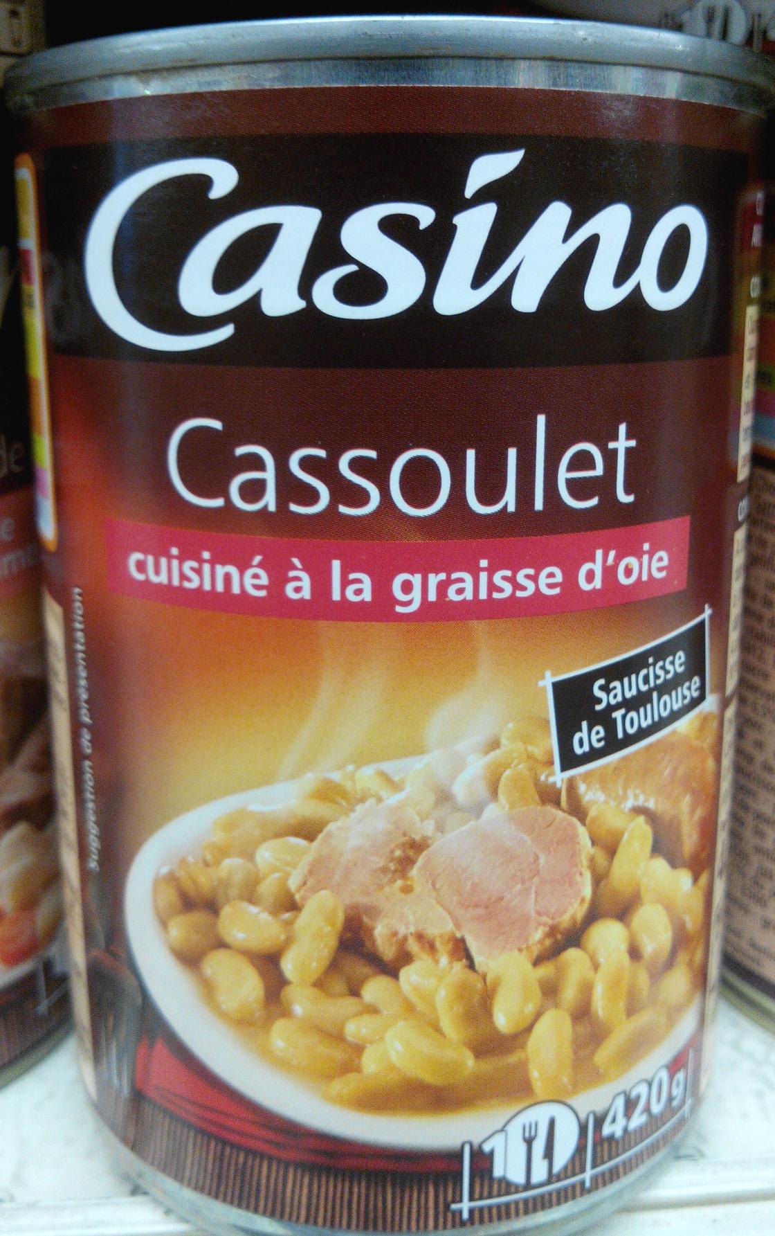 Cassoulet cuisiné à la graisse d'oie - Produit