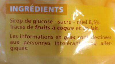 Bonbons au miel - Doux et savoureux - Ingredients - fr
