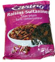 Raisins Sultanines sans pépin sans conservateur - Produit - fr