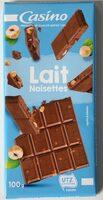 Chocolat au lait noisettes - Produit - fr