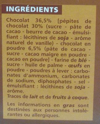 Cookies Tout Chocolat - Ingrediënten