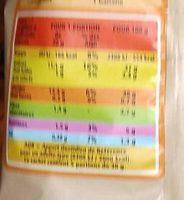 Chips à l'ancienne - Voedingswaarden - fr