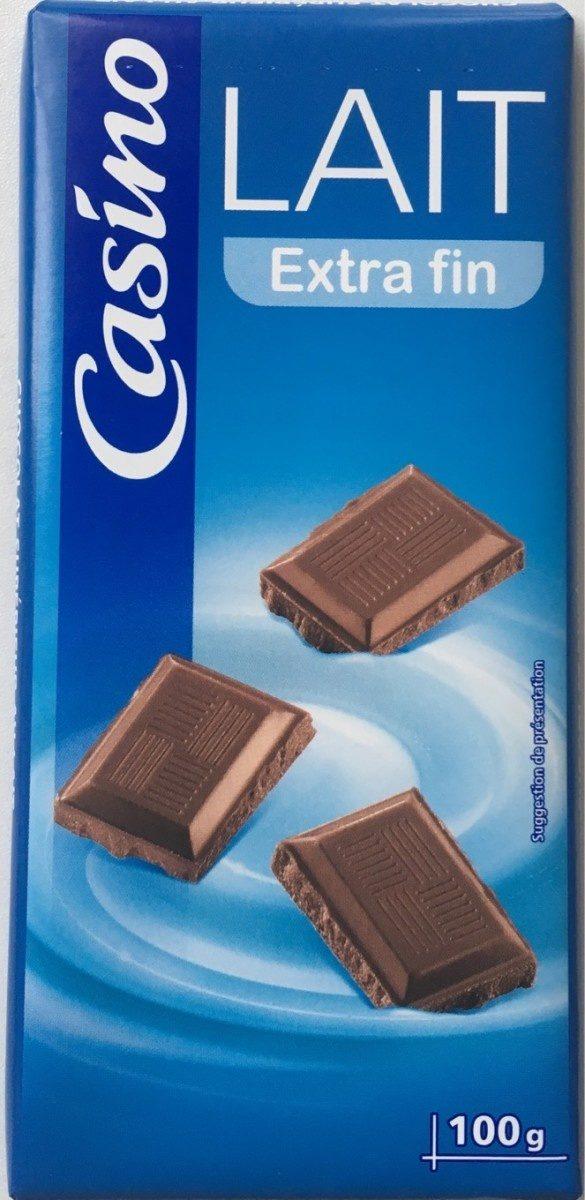 Chocolat au lait familial 3x100g Casino - Produit