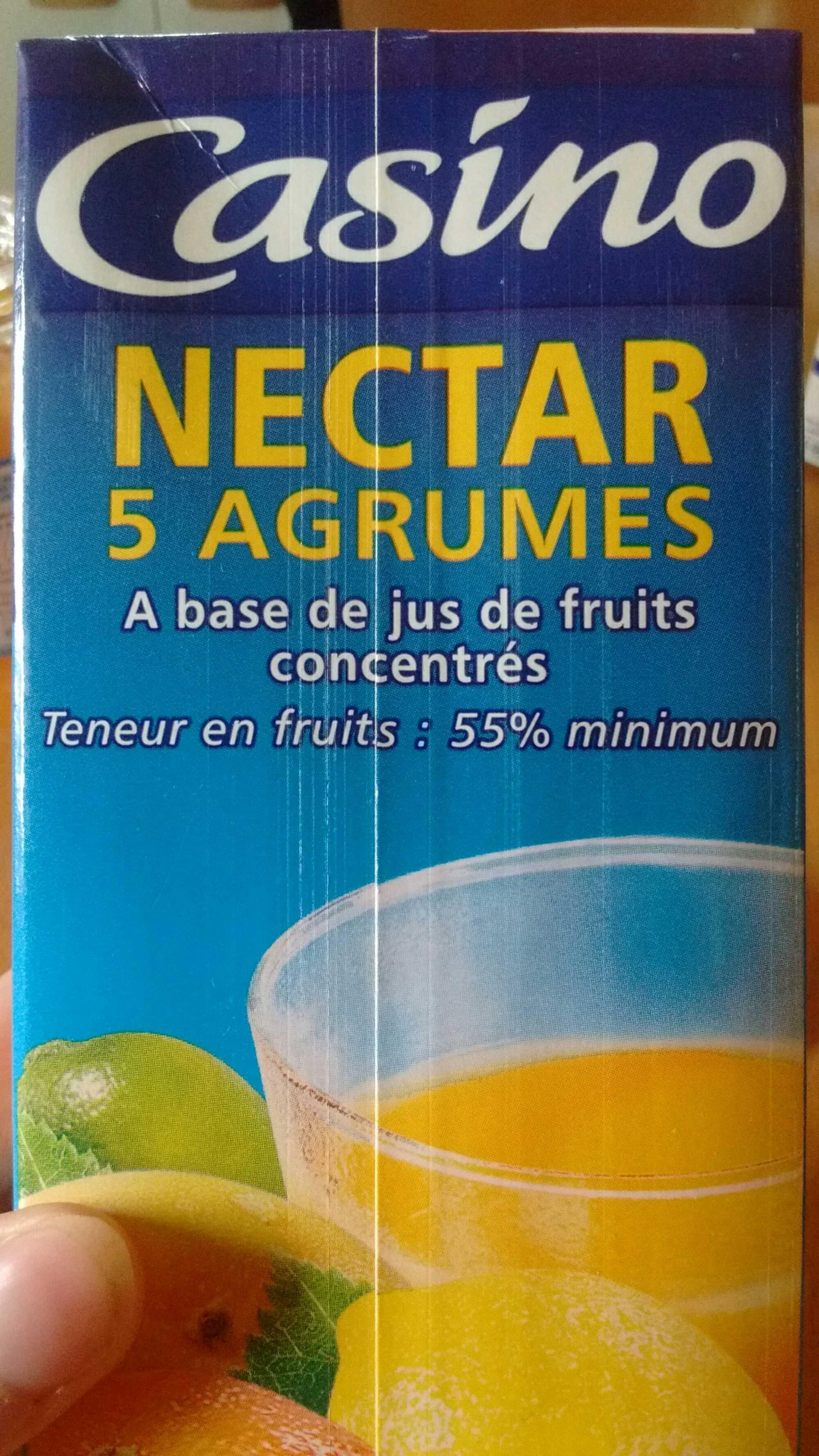Nectar 5 agrumes à base de jus concentrés - Teneur en fruits : 55% minimum - Product