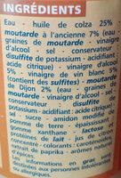 Vinaigrette moutarde à l'ancienne allégée en matières grasses - Ingredienti - fr