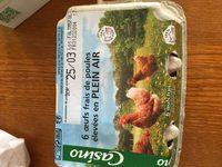 """6 Oeufs frais de poules élevées en plein air - symbole """"Oeuf Gros"""" - Gros - A - Ingrediënten"""