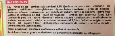 Crêpes Jambon Fromage surgelées - Ingredients