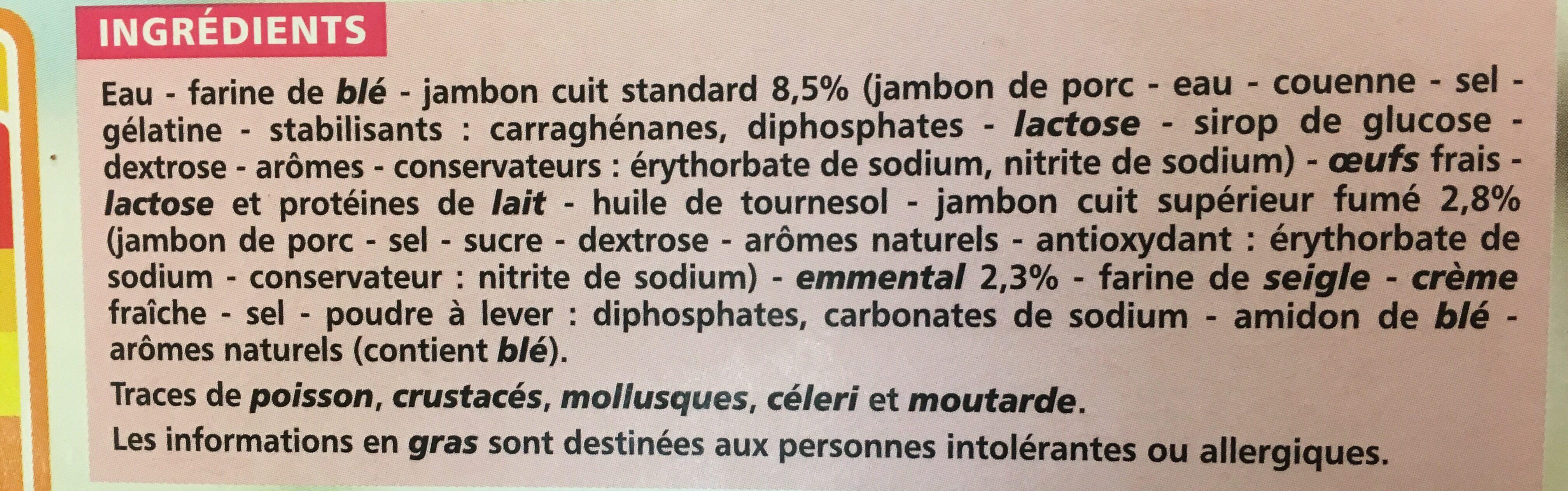 Crêpes Jambon Fromage surgelées - Ingredients - fr